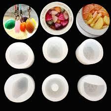 *J  * <b>6Pcs Silicone Fruit</b> Pendant Mold Making Jewelry Resin ...