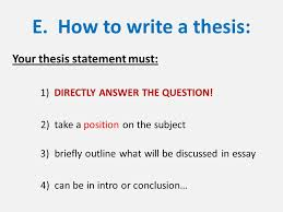 "i essay writing tutorial a ""frq"" essays dbq document  e how to write a thesis your thesis statement must 1 directly"