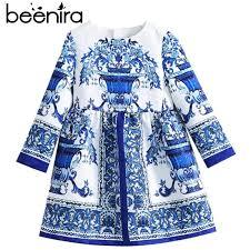 American Princess Size Chart Beenira Children Full Sleeve Pattern Princess Dress 4 14y