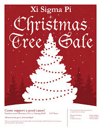 xi sigma pi christmas tree  tree flyer