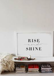 rise and shine bedroom wall art black white typography poster love wedding on bedroom wall art phrases with life and style on etsy pinterest typography poster typography
