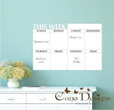 dry erase wall decal and wall decal calendar dry erase dry erase wall calendar