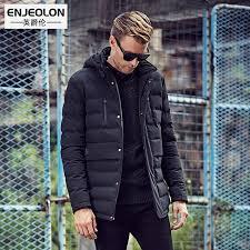 Enjeolon Brand Cotton Padded Hooded jacket Men windproof,Parka Men ... & Enjeolon Brand Cotton Padded Hooded jacket Men windproof,Parka Men  ClothingThick Quilted long type Coat Adamdwight.com
