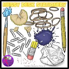 messy desk clipart. Interesting Messy Messy Desk Stationery School Supplies Clip Art Clipart On Desk Clipart K
