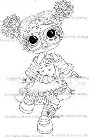 Small Picture INSTANT DOWNLOAD Digital Digi Stamps Big Eye Big Head Dolls My