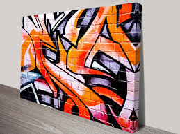 orange abstract street art canvas framed graffiti artwork australia regarding recent melbourne abstract wall art on wall art painting melbourne with 2018 popular melbourne abstract wall art