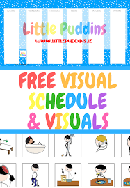 Free Schedule Free Printable Daily Visual Schedule Little Puddins