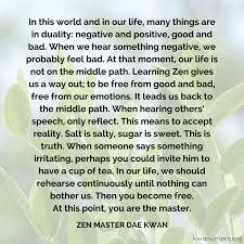 Middle Path Quote Kwan Um School Of Zen