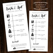Wedding Itinerary Printable Wedding Timeline Printable Wedding Itinerary Wedding 8
