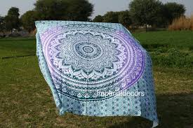 hanging sheet indian tapestry traditional colored ethnic henna mandala wall