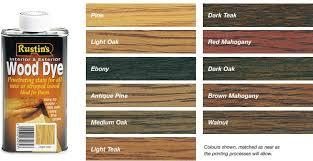 Rustins Wood Dye Colour Chart Water Based Wood Dye Water