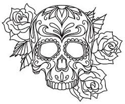 Small Picture American Hippie Art Coloring Pages Sugar Skull Tattoo