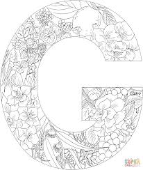 Letter G With Plants Coloring Page Free Printable Coloring Pages