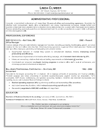 Sample Administrative Assistant Resume Office Professional Resumes