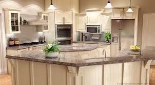 white kitchen cabinet ideas with gray granite countertop