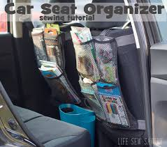 seat back organizer tutorial for a busy