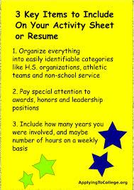Resume Resume Activities
