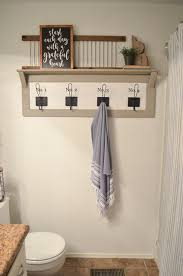 bath towel holder. Farmhouse Bathroom Organization. Don\u0027t Want To Build Your Own? I Will Link A Few Style Towel Racks That Found For You At The End Of This Post. Bath Holder O