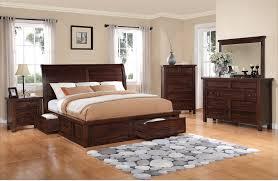 King Bed Bedroom Set Sonoma 8 Piece King Storage Bedroom Set Dark Brown The Brick