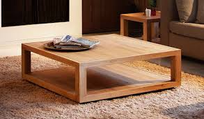 image of square oak coffee table home furniture