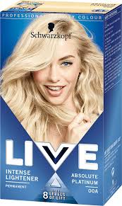 00a Absolute Platinum Hair Dye By Live