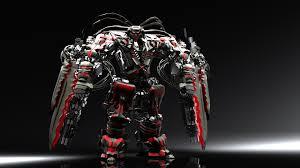 awesome 3d robot wallpaper desktop wallpaper