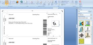 Airline Ticket Template Word Beauteous Making Fake Boarding Passes As Gifts Le Chic Geek