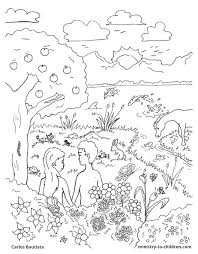 Creation Coloring Sheet Pages Bible Page Free Download Printable For