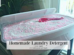 homemade laundry detergent recipe requested