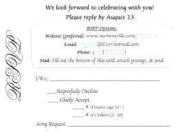 Rsvp Template Online Invitation Rsvp Sample University Edu Info