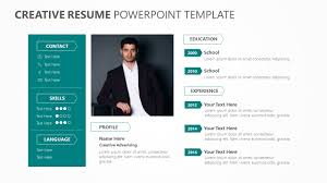Resume In Powerpoint Creative Resume Powerpoint Template Pslides