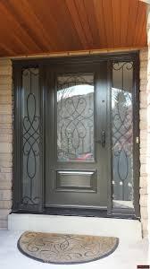 single steel door with three quarter lasercut insert 2 sidelites