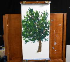painting a tree in acrylic