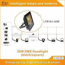 30w dmx control led flood light black square outdoor flood light