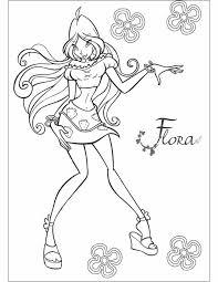 Kleurennu Flora Van Winx Kleurplaten