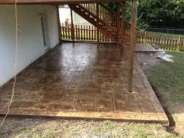 Under Deck Patio Designs Stamped Concrete Patio Under Deck Concrete Patio Patio