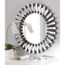 afina modern luxe round wall mirror   in  hayneedle