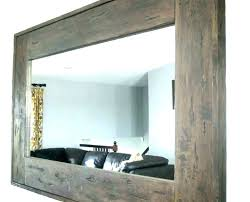 rustic wall mirrors rustic wood
