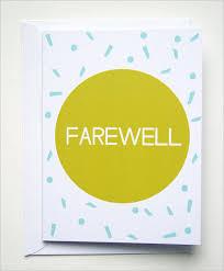 Free Farewell Card Template Interesting Farewell Card Template 48 Free Printable Word PDF PSD EPS