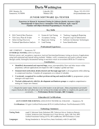 Software Tester Resume Sample template Qa Documentation Template Entry Level Software Tester 33