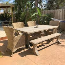 Outdoor Patio Table With Bench