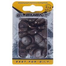 <b>Заглушки</b> рамного дюбеля Element 15 мм <b>пластик</b> цвет дуб, 35 шт ...