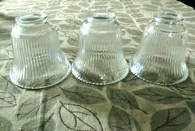 replacement chandelier glass replacement light shades for ceiling fans set 3 clear fluted glass light globes