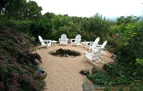 sunken patio fire pit maximizing your pea gravel back yard deck with fire pit flush