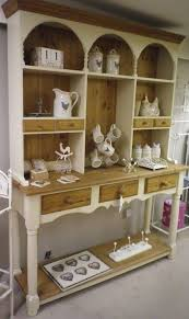 country pine dresser painted in Farrow and Ball String with