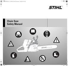 Stihl Chainsaw Safety Manual Manualzz Com