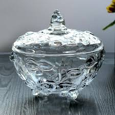 crystal glass bowl transpa crystal glass sugar bowl sugar roses canister canister dried fruit jar crystal glass bowl
