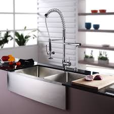 36 inch farmhouse a 60 40 double bowl 16 gauge stainless steel kitchen sink