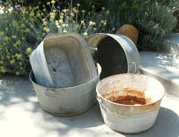 my galvanized wash tub garden flea market gardening photo details from these image we try