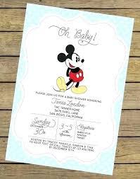 Baby Mickey Mouse Invitation Template Blank 1St Birthday Invitations ...